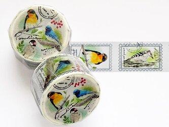 鳥のマスキングテープの画像