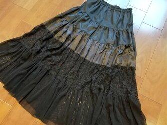 週末セール!5段ティアードスカートの画像