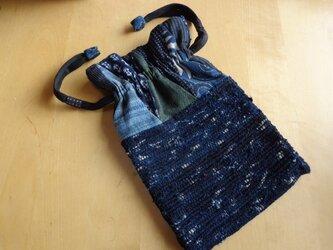 裂き織り 巾着袋<送料無料>の画像