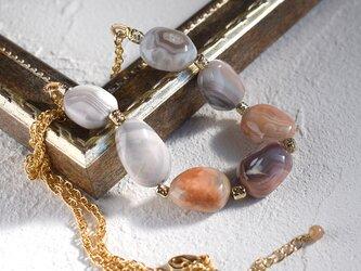 ボツワナ・アゲートのネックレスの画像