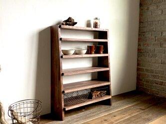 数量限定 CBS-95-T6 シェルフ 棚 ディスプレイ 食器棚 キッチン 本棚 飾り棚 カップボード 収納の画像
