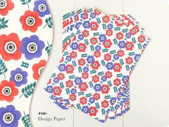 A4サイズの包装紙 10枚入り アネモネ | お花のデザインペーパーの画像