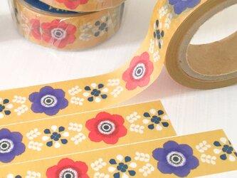 アネモネのマスキングテープ (イエロー) | PiNオリジナルデザイン 花柄 北欧 春の画像