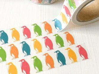 ペンギンのマスキングテープ | PiNオリジナルデザイン 動物 鳥 コウテイペンギンの画像