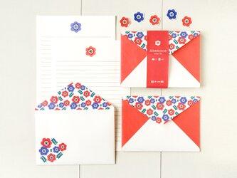 アネモネのレターセット (5セット入り) | 赤いお花のお手紙 春の画像
