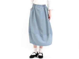 バルーンスカート(ブルー系✖︎白)#360の画像
