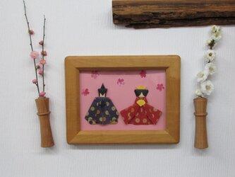 2個セット 壁に飾れるフラワーベース M ≪ブラックチェリーのブーケ≫ の画像