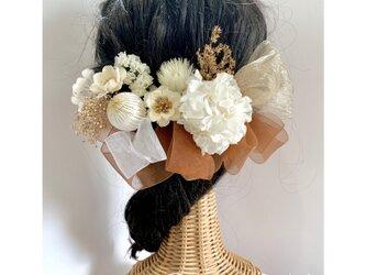 \3種類のリボンで自由にアレンジ▶︎◀︎/*アンティークなヘッドドレス*卒業式、成人式、髪飾り、前撮り、和装、振袖、袴の画像