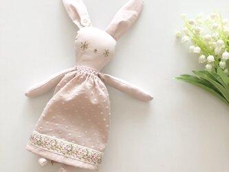 snow rabbit  コットン グレイッシュピンクの画像