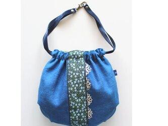 ジャガ-ドリボンのリネン巾着袋の画像