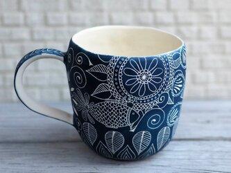青いマグカップ(魚)の画像