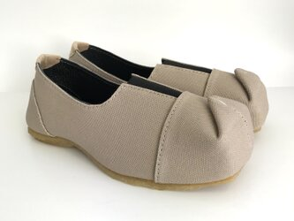 SQUARE slip-on shoes #倉敷帆布 #受注製作 #天然素材の画像