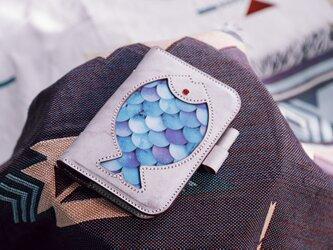 【深海魚】A6サイズ-牛革手作り手縫い手帳の画像
