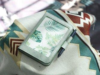 【芭蕉】A6サイズ-牛革手作り手縫い手帳の画像
