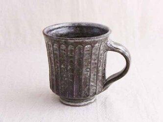 しのぎ手マグカップ(わら灰失透)の画像