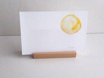 水彩画「ムーン」ポストカード 2枚セット シンプル ナチュラコ  ナチュラル アート naturakoの画像