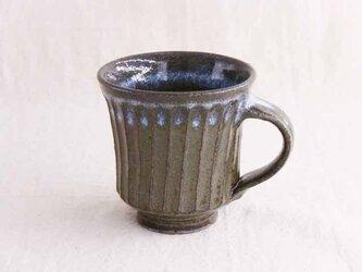 しのぎ手マグカップ(わら灰)の画像