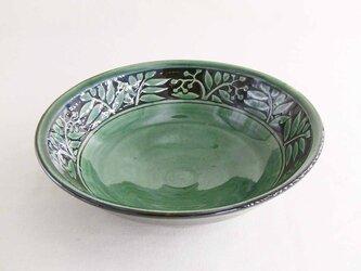ナナカマド掻落し鉢(織部)の画像