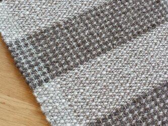 【手織り】ジュートとウールのマットの画像
