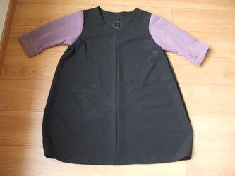 絽2種を使ったバルーンチュニック 絹の画像
