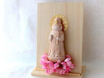 【置き型掛仏】 聖観音 桜の画像