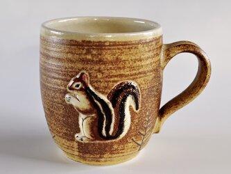 リスレリーフマグカップの画像