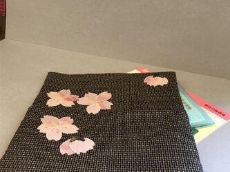ヴィンテージ紬 袱紗入れ 桜がの画像
