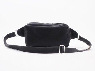 cowleather Body Bag(黒)/牛革(伊タンニン鞣)/オリジナルシルバー/純銀/BB002の画像