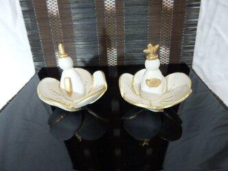 陶器 梅の花中 立雛の画像