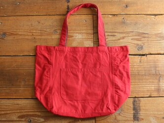 【new color】hanpu A4vertical-tote : red :の画像