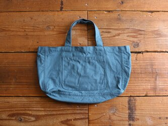 【new color】hanpu A4-tote : turquoise :の画像