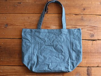 【new color】hanpu A4vertical-tote : turquoise :の画像