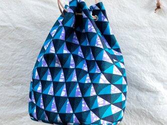 アフリカンワックスプリント バスケットバッグ Ocean windsの画像