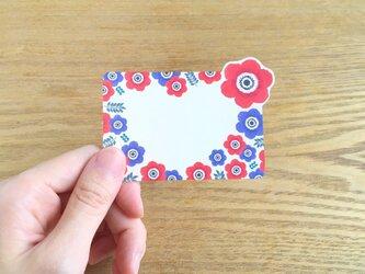 メッセージカード 10枚入り アネモネ | お花のカード ハート型 春の画像