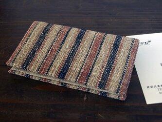 手織布の名刺入れ 織更紗の画像