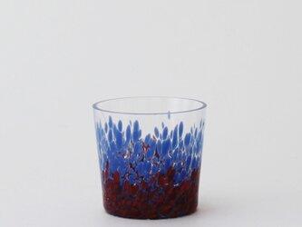 iro バード(ロックグラス):ブルー&レッドの画像