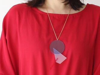 SUN  jewelry:ネックレス(ホワイト・ブルー・レッド)アクセサリー アクリルの画像