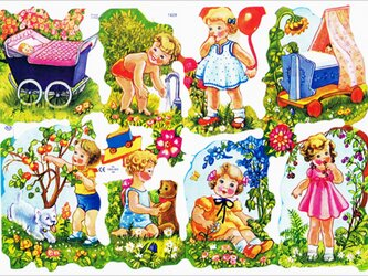 イギリス製クロモス 庭の子供達 ラメなし  DA-CHER100の画像
