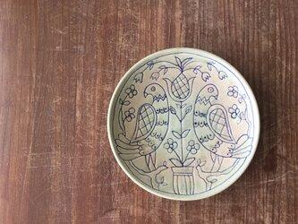 7寸深皿 鳥彫マジャール紋の画像