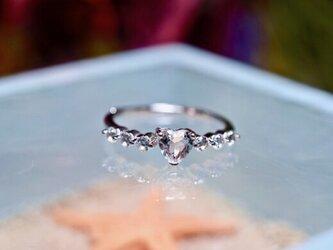 48-7 天然 白水晶 クリスタル リング シルバー 指輪 誕生石 フリーサイズの画像
