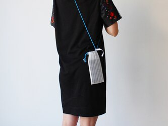 zero:Pleats pochette(ストライプ)プリーツ・ポシェット:ショルダーバッグ 軽い 透ける 透明感の画像