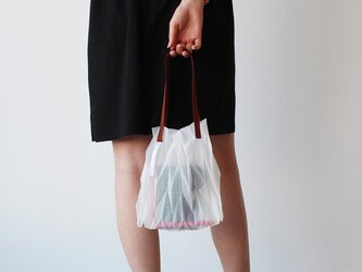 zero:Pleats bag - S(ヘリンボーン)プリーツ・バッグ S:ショルダーバッグ 軽い 透ける 透明感の画像