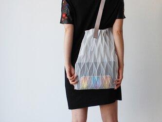 zero:Pleats bag - L(ヘリンボーン)プリーツ・バッグ L:ショルダーバッグ 軽い 透ける 透明感の画像
