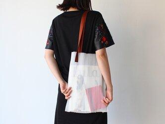 zero:Pleats bag - L(ストライプ)プリーツ・バッグ L:ショルダーバッグ 軽い 透ける 透明感の画像
