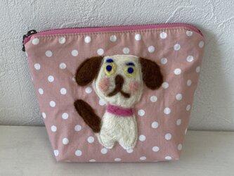 犬のポーチ ピンク Sの画像