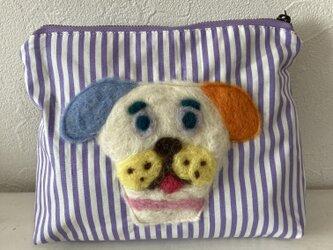 犬のポーチ 紫 Lの画像