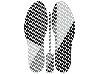 グラフィックインソール SOKO(キモノ:イチマツ)中敷き・市松・和柄・消臭の画像