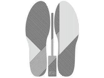 グラフィックインソール SOKO(キモノ:シマ)中敷き・縞・和柄・消臭の画像
