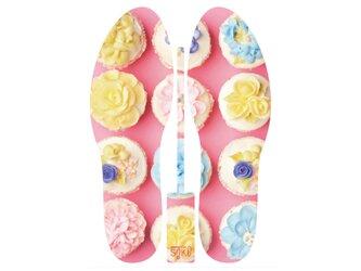 グラフィックインソール SOKO(サプライズ:ケーキ)デザート・カップケーキ・中敷・消臭・抗菌・インソール・コルクの画像