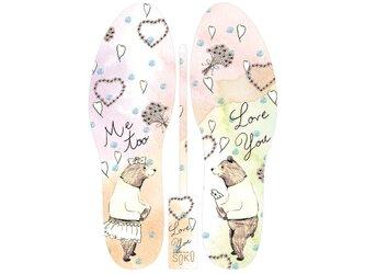 グラフィックインソール SOKO(ワンダーランド:ベアーズウエディング)熊・くまさん・結婚・中敷・消臭・抗菌・ricco・熊の画像